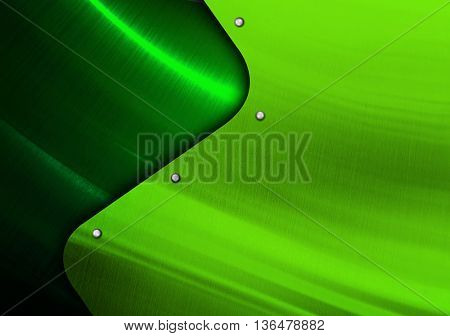 green metal design with curve pattern
