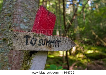 To Summit Sign Maine