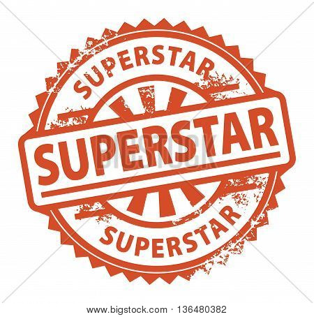 Abstract grunge rubber stamp with the text Superstar written inside the stamp, vector illustration