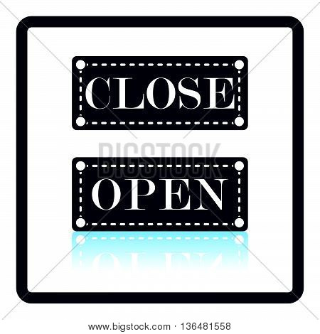 Shop Door Open And Closed Icon
