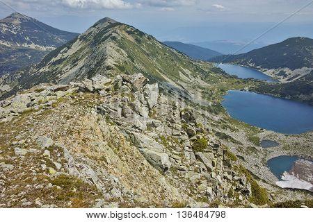 Panoramic view to Kremenski lakes, Pirin mountain, Bulgaria