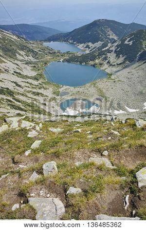 Amazing Landscape of Kremenski lakes, Pirin mountain, Bulgaria