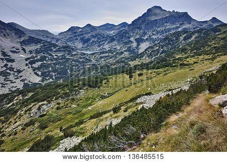 Panoramic view of Bezbog Lake, Pirin Mountain, Bulgaria