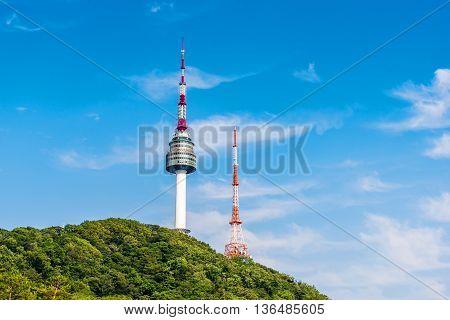 KoreaNamsan Tower in Seoul , South Korea.