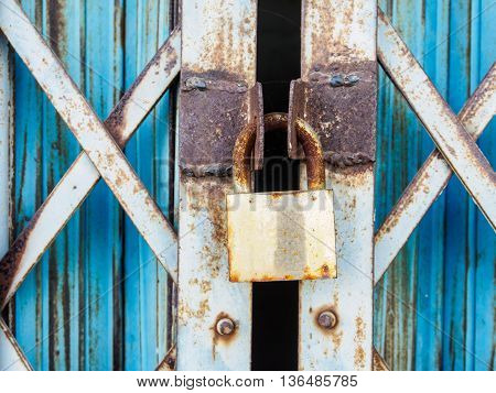The Master key rustic lock steel door