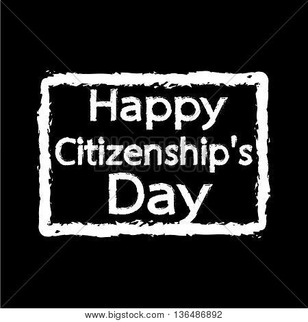 HAPPY citizenship Day national holiday of the United States Illustration design