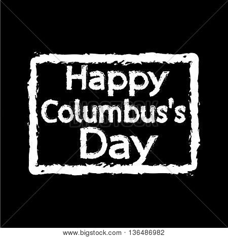an images of HAPPY Columbus Day Illustration design