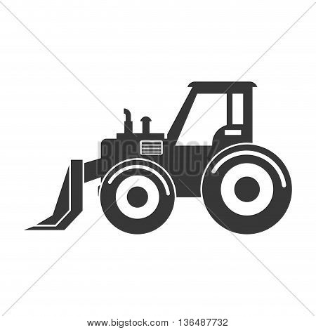 Under construction concept represented by forklift icon. isolated and flat illustration