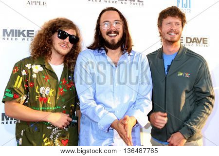 LOS ANGELES - JUN 29:  Blake Anderson, Kyle Newacheck, Anders Holm at the Mike And Dave Need Wedding Dates Premiere at the Cinerama Dome at ArcLight Hollywood on June 29, 2016 in Los Angeles, CA
