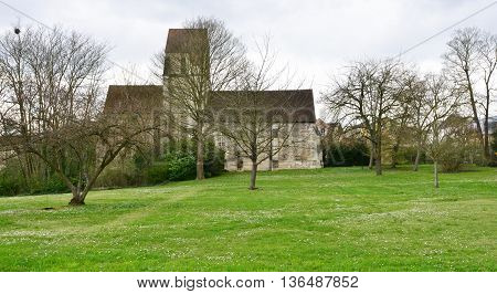 Maisons Laffitte France - april 4 2016 : the old church