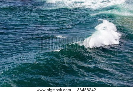 Sea Wave With Foam.