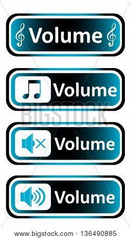 Long icon clipart sound symbol and the inscription volume