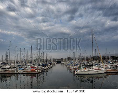 Monterey's Fisherman's Wharf harbor in California usa