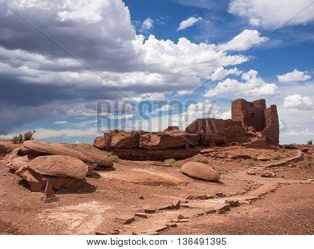 Wukoki Ruins complex in Wupatki national monument Arizona USA