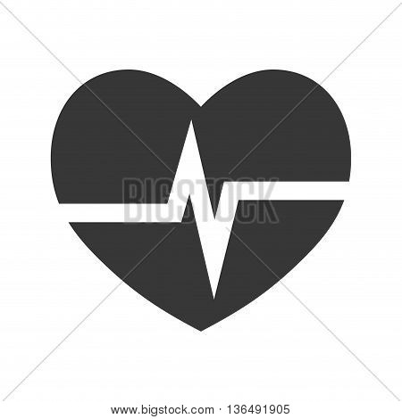 Medical and health care concept represented by cardiology heart icon. isolated and flat illustration