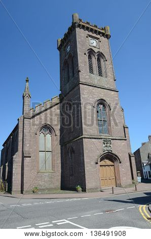 An external view of the church in Doune
