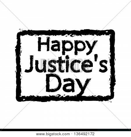 an Images of Justice Day Illustration design