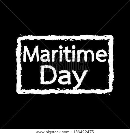 an Images of Maritime Day text Illustration design