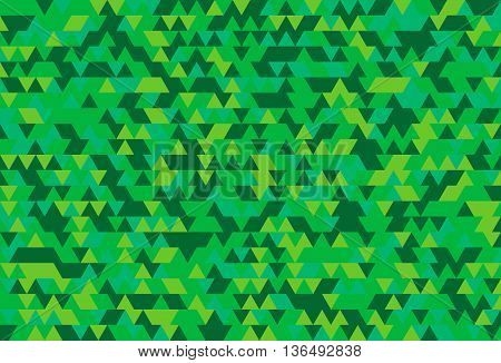 Abstract background of the triangles. The gradation of green. Green hues.