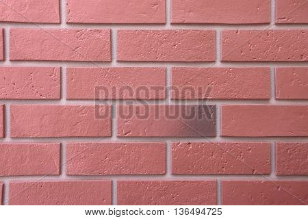 Brick Wall In A Close Up