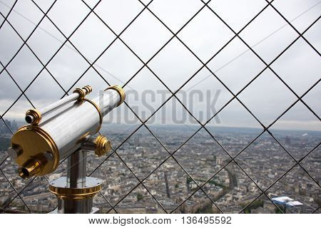 Picture of the viewpoint in the Eiffel Tower in Paris France