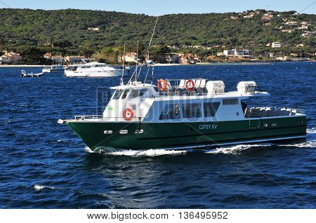 Saint Tropez; France - april 18 2016 : the picturesque port