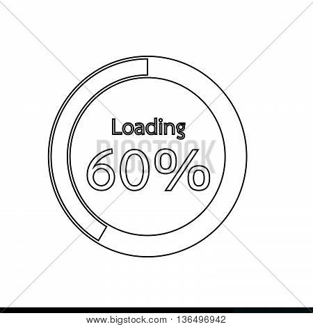 Circle Loading Progress Bars indicator Icon Illustration design