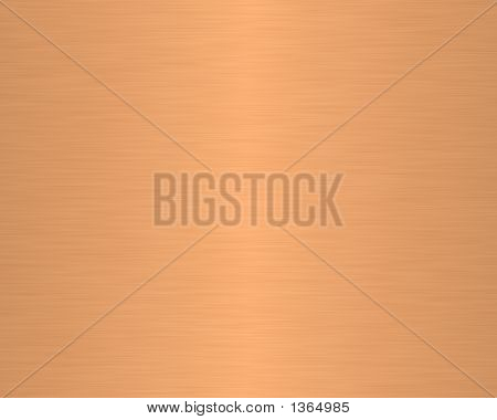 Brushed Metal Texture Background Linear Copper