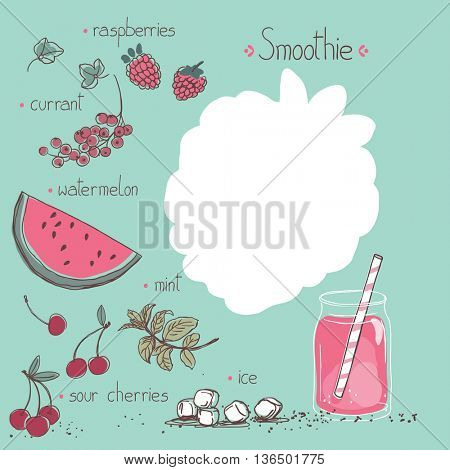 pink smoothie recipe template