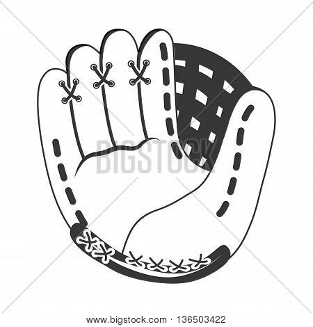 Baseball concept represented by glove icon. isolated and flat illustration