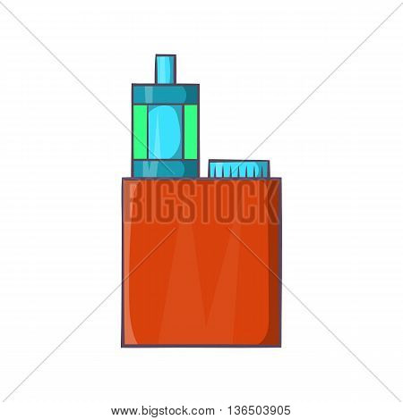 Vaporizer device icon in cartoon style on a white background