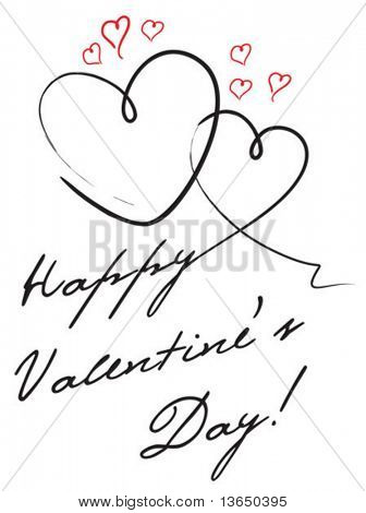 Cute valentine's postcard. vector.