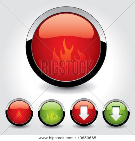 Set of buttons for web design. vector