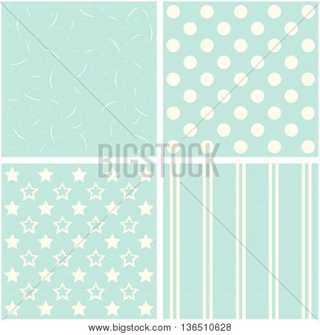 vector set of four different retro pattern