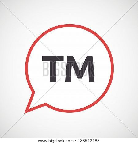 Isolated Comic Balloon Icon With    The Text Tm