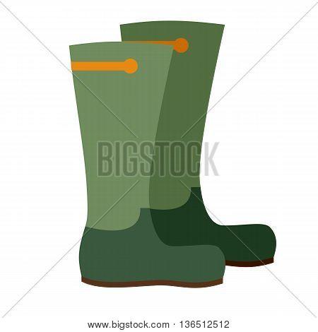 Hunting ammunition. Cartoon boots icon, vector illustration