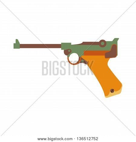 Hunting ammunition. Cartoon Gun icon , vector illustration