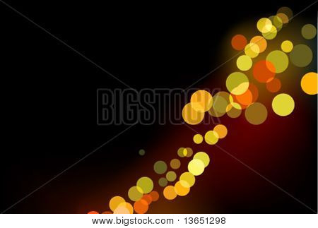 Glittering lights background. Vector.