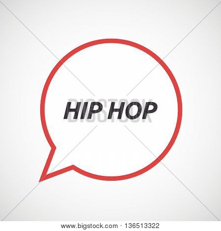 Isolated Comic Balloon Icon With    The Text Hip Hop