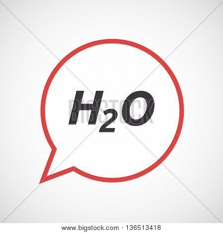 Isolated Comic Balloon Icon With    The Text H2O
