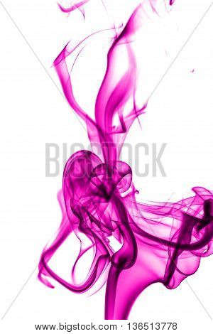 Abstract Pink Smoke On White Background