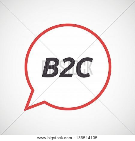 Isolated Comic Balloon Icon With    The Text B2C
