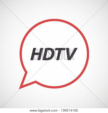 Isolated Comic Balloon Icon With    The Text Hdtv