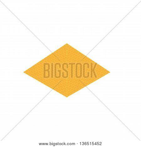 Simple isometric egypt piramid icon isolated on white background vector illustration