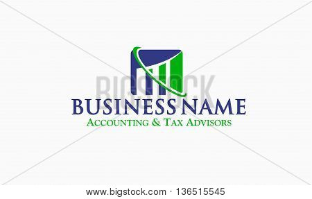 Great logo for your Financial, Bookkeeping, Tax or Accounting Business