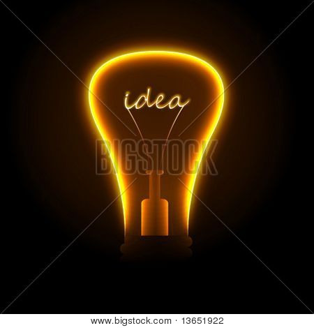 Creative light bulb. Vector.