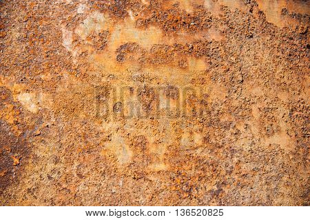 Rusty metal. Old rusty metal background and texture