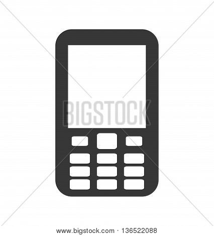 Mobile concept represented by cellphone icon. isolated and flat illustration