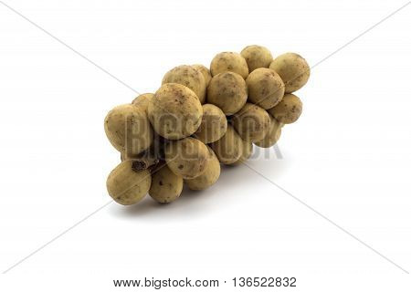 Wollongong Thai fruit on White Background.  Available on the floating market and plaza