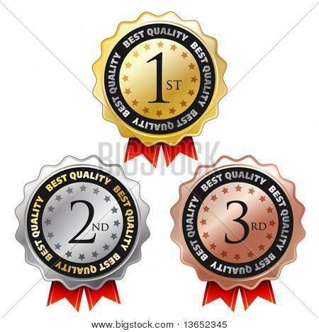 Vector award labels.